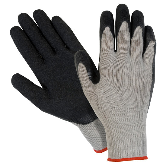 Southern Glove GCBLLPD Gray Polycotton Latex Palm Coated Gloves