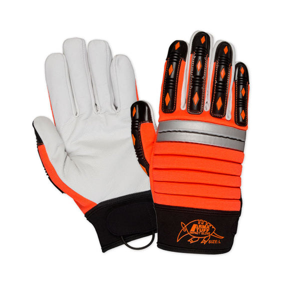 Southern Glove GLMECHO Arma Tuff Hi Vis Leather Palm Impact Gloves