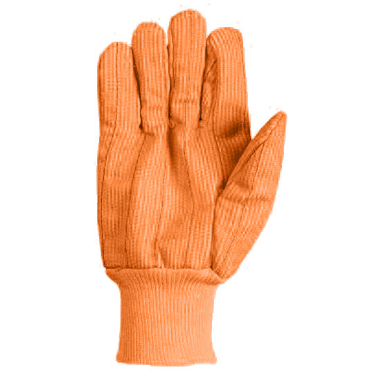 Southern Glove ICCHF18FO Medium Weight Fluorescent Orange Knit Wrist Gloves