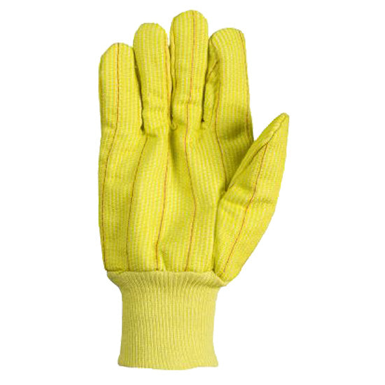 Southern Glove ICHF18FY Medium Weight Fluorescent Yellow Polycotton Gloves