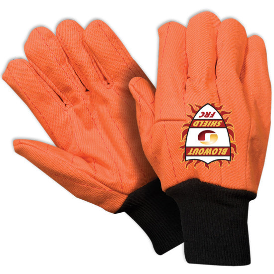 Southern Glove IFCCFO209 Blowout Shield Fluorescent Orange Flame Retardant Gloves