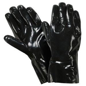 "Southern Glove IN885-12 Black Neoprene Coated 12"" Gauntlet Gloves"