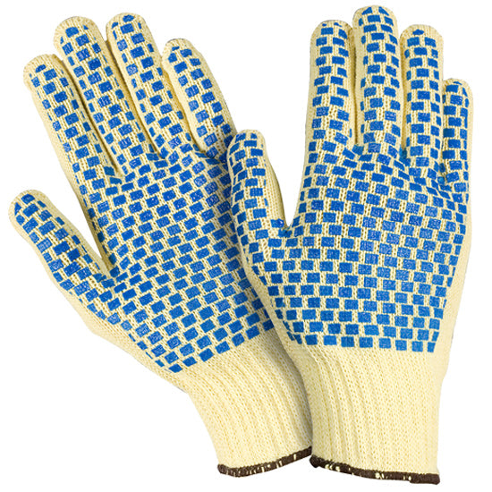 Southern Glove ISM332BB Medium Weight String Knit Gloves with Blue Block Coating