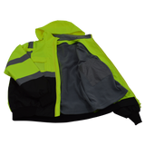 Petra Roc LBBJ-C3 ANSI Class 3 Waterproof High Visibility Bomber Jacket, Open