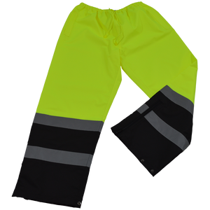 Petra Roc LBPP-CE ANSI Class E Lime/Black Waterproof High Visibility Rain Draw Strings Pants
