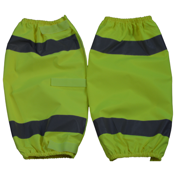 Petra Roc Lime ANSI Class E Waterproof Reflective Leg Gaiters With Adjustable Velcro Closures