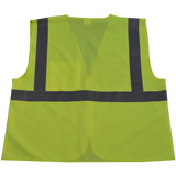 Petra Roc LV2-CB0/LVM2-CB0 ANSI Class 2 Safety Vest with Zipper Closure, Solid Back