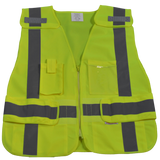 Petra Roc LV2/LVM2-LPSV ANSl All Lime Expandable 5-Point Breakaway Public Safety Vest, Solid Front