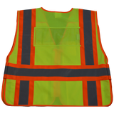LVM2/LV2-PSVP ANSI/ISEA Class 2 Two Tone Expandable 5-Point Breakaway Public Safety Vest, Back