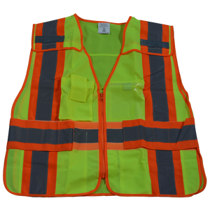 LVM2/LV2-PSVP ANSI/ISEA Class 2 Two Tone Expandable 5-Point Breakaway Public Safety Vest, Front
