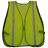 Lime ANSI Non-Rated Mesh Safety Vest, High Gloss Tape