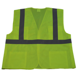 Petra Roc LVM2/OVM2-5PB ANSI/ISEA Lime 5-Point Break Away Class II Safety Vest, Back