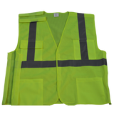 Petra Roc LVM2/OVM2-5PB ANSI/ISEA Lime 5-Point Break Away Class II Safety Vest, Front