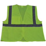 Petra Roc LV2-CB0/LVM2-CB0 ANSI Class 2 Safety Vest with Zipper Closure, Mesh Back