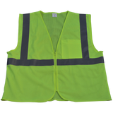 Petra Roc LV2-CB0/LVM2-CB0 ANSI Class 2 Safety Vest with Zipper Closure, Mesh Front