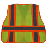 Petra Roc 5-Point Breakaway Public Safety Vest, Lime Mesh Back