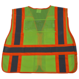 LVM2/LV2-PSVP ANSI/ISEA Class 2 Two Tone Expandable 5-Point Breakaway Public Safety Vest, Mesh Back