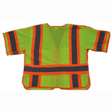 Petra Roc LVM3/OVM3-5PB-CB1 ANSI Class 3 Breakaway Short Sleeve Shirt/Vest, Two Tone Deluxe, Lime Back