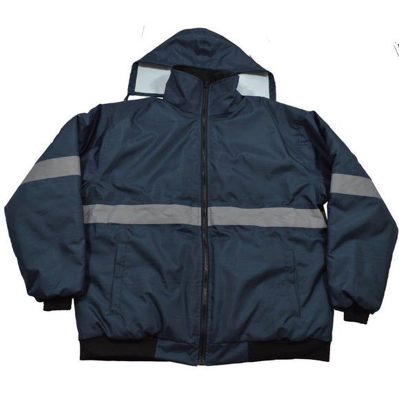 Petra Roc Enhanced Visibility Navy Blue Quilted Bomber Jacket