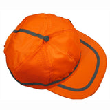 Petra Roc OBC-S1 ANSI Orange Hi Vis Baseball Cap Style Safety Cap, Front