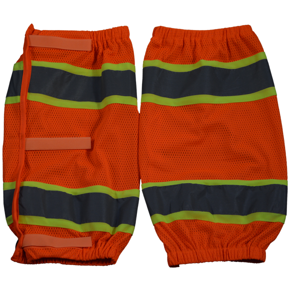 Petra Roc OMGL-CE ANSI Class E Orange Mesh/Lime Contrast Reflective Leggings With Adjustable Velcro Closures
