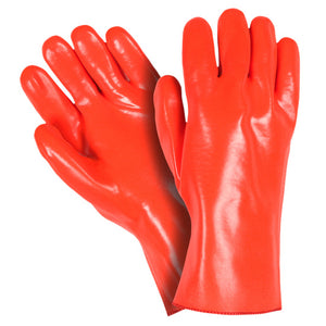 "Southern Glove OPVCFC12 Fluorescent Orange PVC Coated 12"" Gauntlet Gloves"