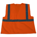 Petra Roc OV2-EC/OVM2-EC ANSI/ISEA 107-2010 Class 2 Economy Safety Vest with Velcro Closure, Solid Back