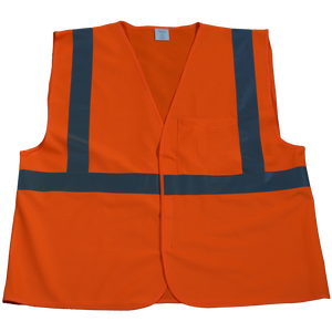 Petra Roc OV2-EC/OVM2-EC ANSI/ISEA 107-2010 Class 2 Economy Safety Vest with Velcro Closure, Solid Front