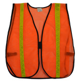 Orange ANSI Non-Rated Mesh Safety Vest, High Gloss Tape