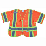 Petra Roc LVM3/OVM3-5PB-CB1 ANSI Class 3 Breakaway Short Sleeve Shirt/Vest, Two Tone Deluxe, Orange Front
