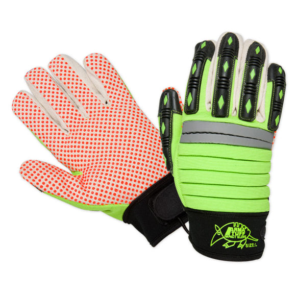 Southern Glove PDMECHG Arma Tuff Hi Vis Dotted Palm Impact Gloves