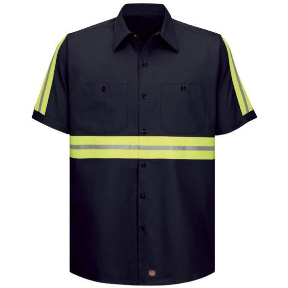 Red Kap SC40 Short Sleeve Enhanced Visibility Cotton Work Shirt
