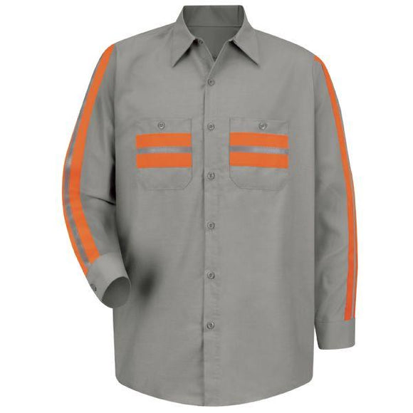 Red Kap SP14 Long Sleeve Enhanced Visibility Shirt