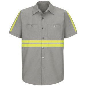Red Kap SP24 Short Sleeve Enhanced Visibility Industrial Work Shirt