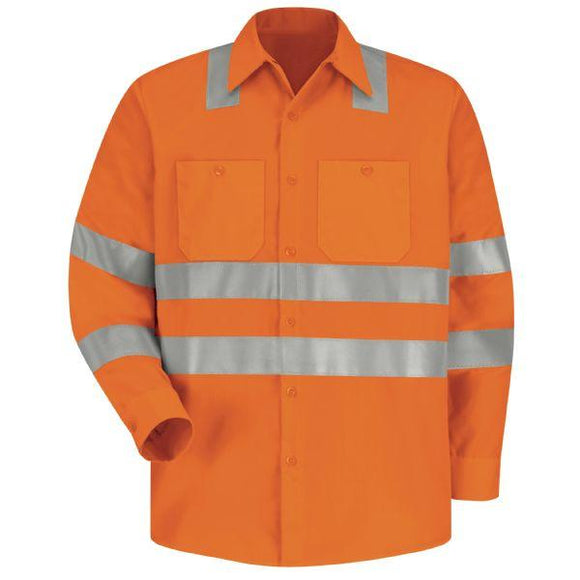 Red Kap SS14 Hi-Visibility Long Sleeve Work Shirt