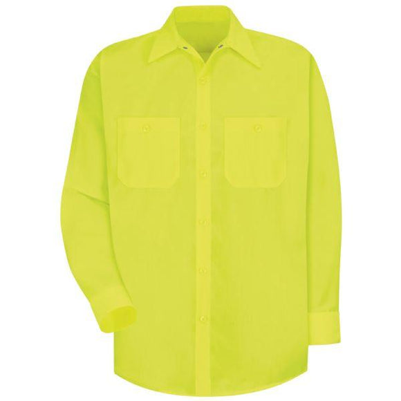 Red Kap SS14 Long Sleeve Enhanced Visibility Work Shirt