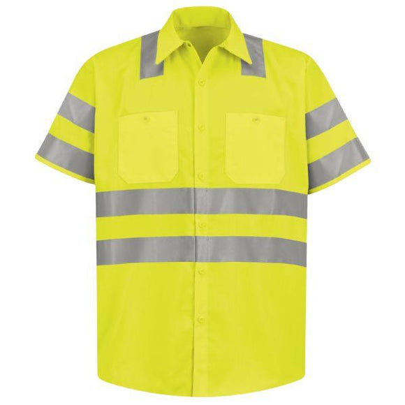 Red Kap SS24 Hi-Visibility Short Sleeve Work Shirt