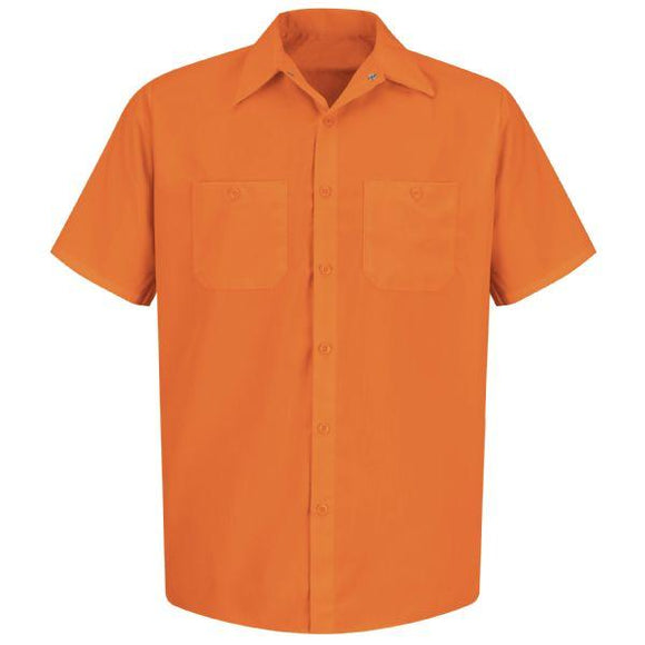 Red Kap SS24 Short Sleeve Enhanced Visibility Work Shirt