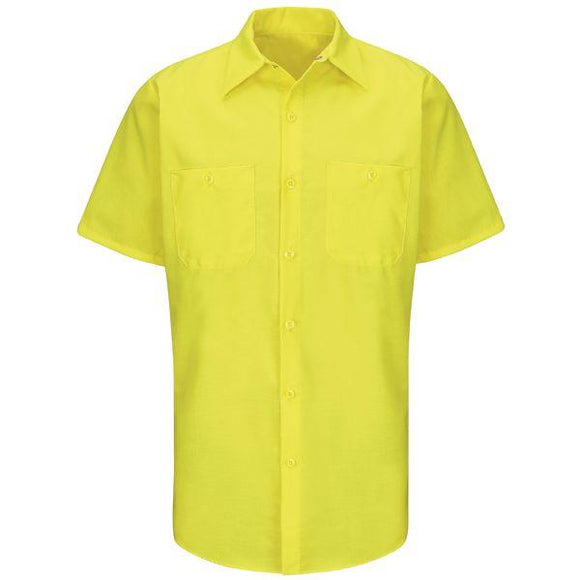 Red Kap SY24E Short Sleeve Enhanced Visibility Ripstop Work Shirt