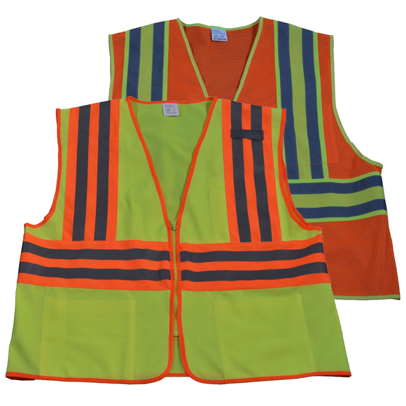 Petra Roc ANSI Class 2 Deluxe Two Tone DOT Safety Vest