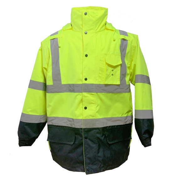 Petra Roc Class 3 Two Tone Lime/Black Waterproof 6-in-1 Parka Jacket