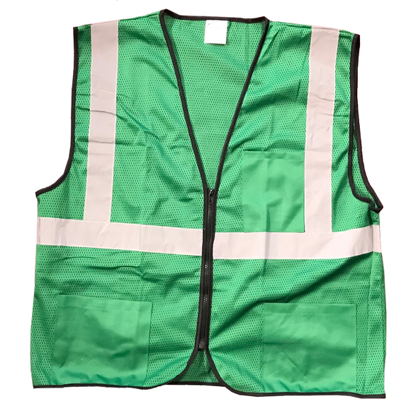 Petra Roc GVM-S1 Enhanced Visibility Green Mesh Safety Vest