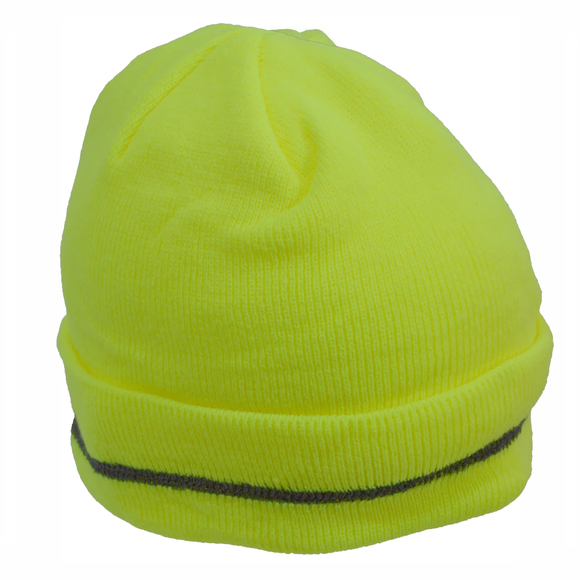 Petra Roc LBE-S1 Lime High Visibility Reflective Beanie Hat