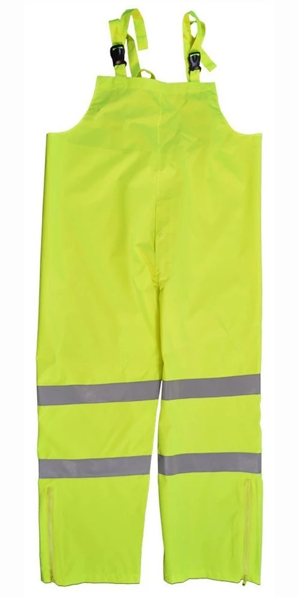 Petra Roc LBIP-CE ANSI Class E Lime Waterproof Rain Bib Pants