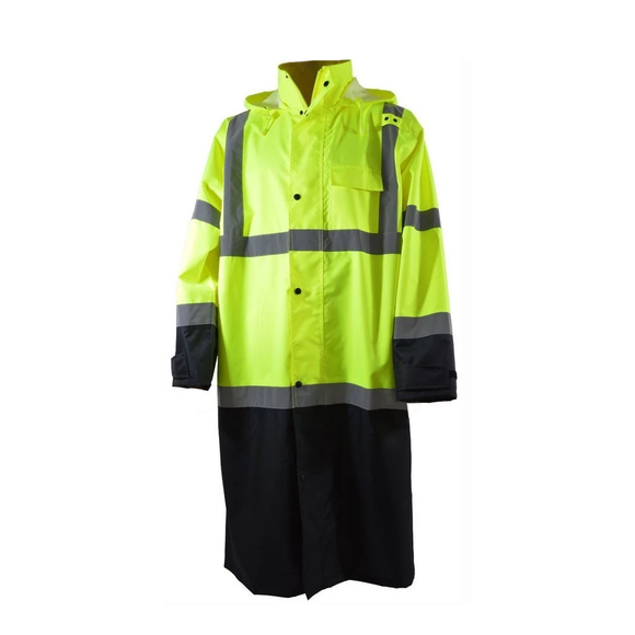 "Petra Roc LBRC-48-C3 ANSI Class 3 Waterproof 48"" Long Rain Coat"