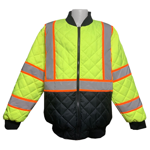 Petra Roc LOCQBJ-C3 Class 3 Two Tone Hi Vis Quilted Jacket
