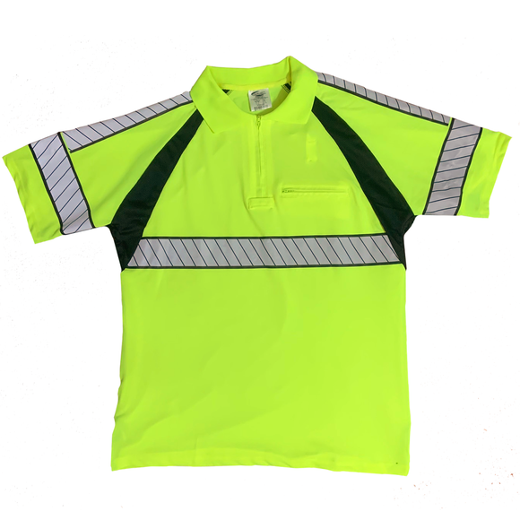Petra Roc LPS2-LUX Class 2 Hi Vis Two Tone Polo Shirt