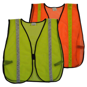 Petra Roc LVM-HG/OVM-HG ANSI Non-Rated Mesh Safety Vest, High Gloss Tape