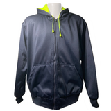 Petra Roc Lime/Navy Reversible ANSI Class 3 Zip-Up Hooded Sweatshirt