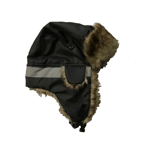 Petra Roc TTH-BLK Hi Vis Black Thermal Winter Trapper Hat
